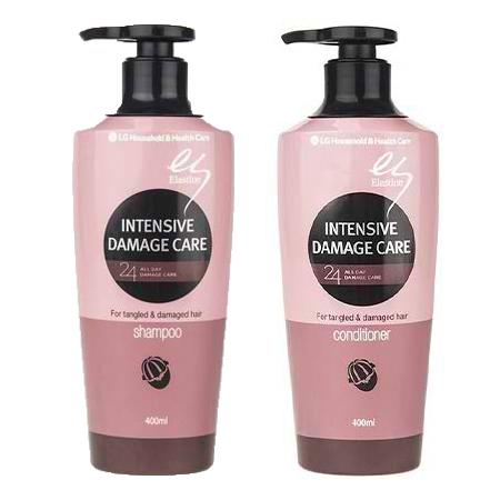 پک مراقبتی موی آسیب دیده ال جی همراه شامپو و نرم کننده 400میلی لیتر