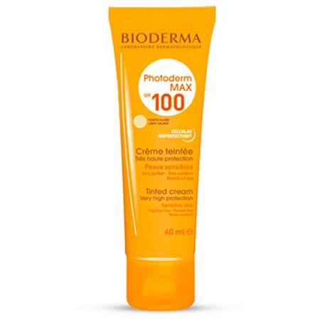 کرم ضد آفتاب بژ روشن بایودرما مناسب پوست نرمال تا خشک مدل Photoderm MAX Cream SPF 100 حجم 40 میل