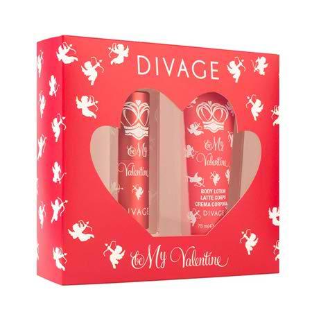 ست ادوتویلت و لوسیون بدن زنانه دیواژ Divage مدل My Valentine حجم 20 میلی لیتر
