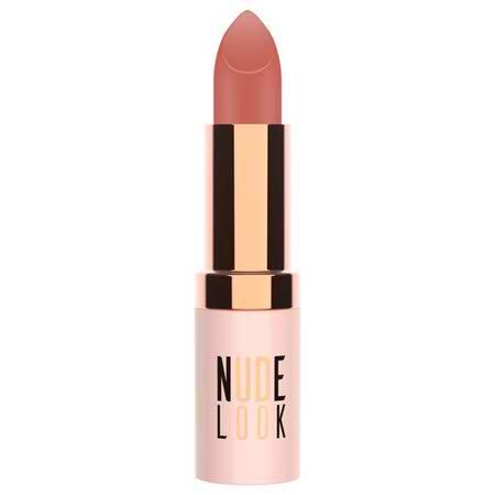 رژ لب جامد مات گلدن رز مدل Nude Look - شماره 02 (Peachy Nude)