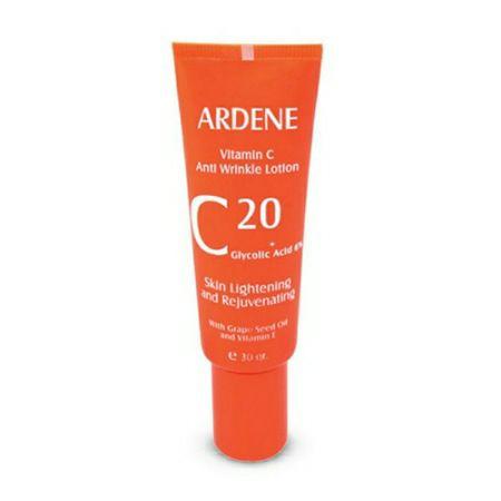 لوسیون ضد چروک آردن حاوی ویتامین C روشن کننده و جوان کننده پوست 30 گرم