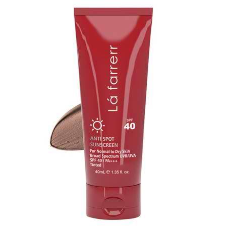 کرم ضد آفتاب و ضد لک رنگی SPF40 لافارر مناسب پوست های خشک و معمولی