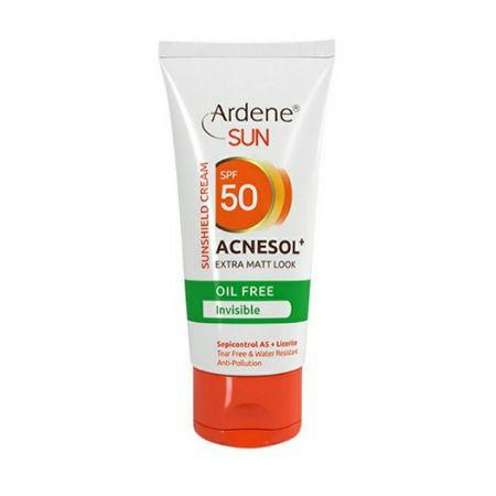 کرم ضد آفتاب بی رنگ 50 SPF آردن فاقد چربی مدل Acnesol حجم 50 میل